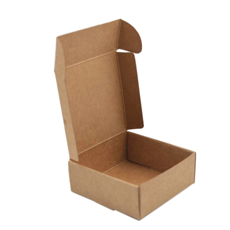 100 x/lote de cajas pequeñas de papel Kraft, caja de cartón para jabón hecha a mano, caja de papel para regalo, caja para embalaje de joyería, caja para regalo