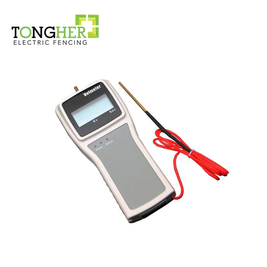Medidor de voltaje digital de rango 200V-12KV/probador de voltaje para cercas eléctricas