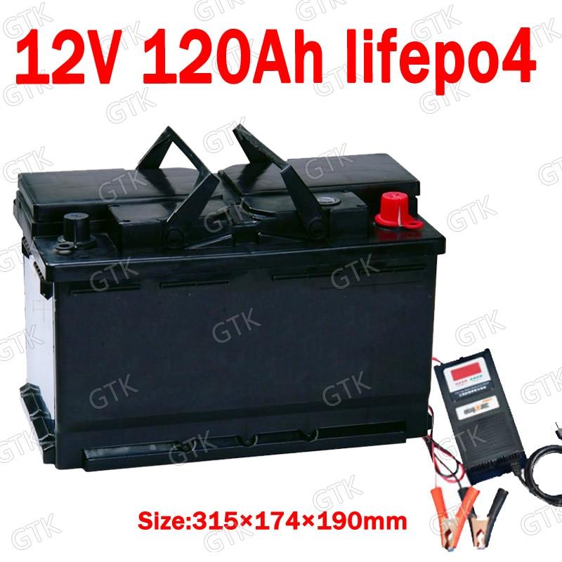 GTK 12.8V Lifepo4 12V 120AH lithium battery BMS 4S for inverter Boats motorhome UPS Go Cart Solar energy storage +10A Charger enlarge
