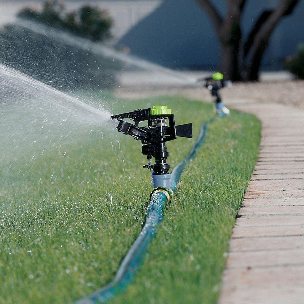 Rociador de césped de jardín 360 sistema de riego automático giratorio que cubre rociador de extremo de manguera de gran superficie ajustable