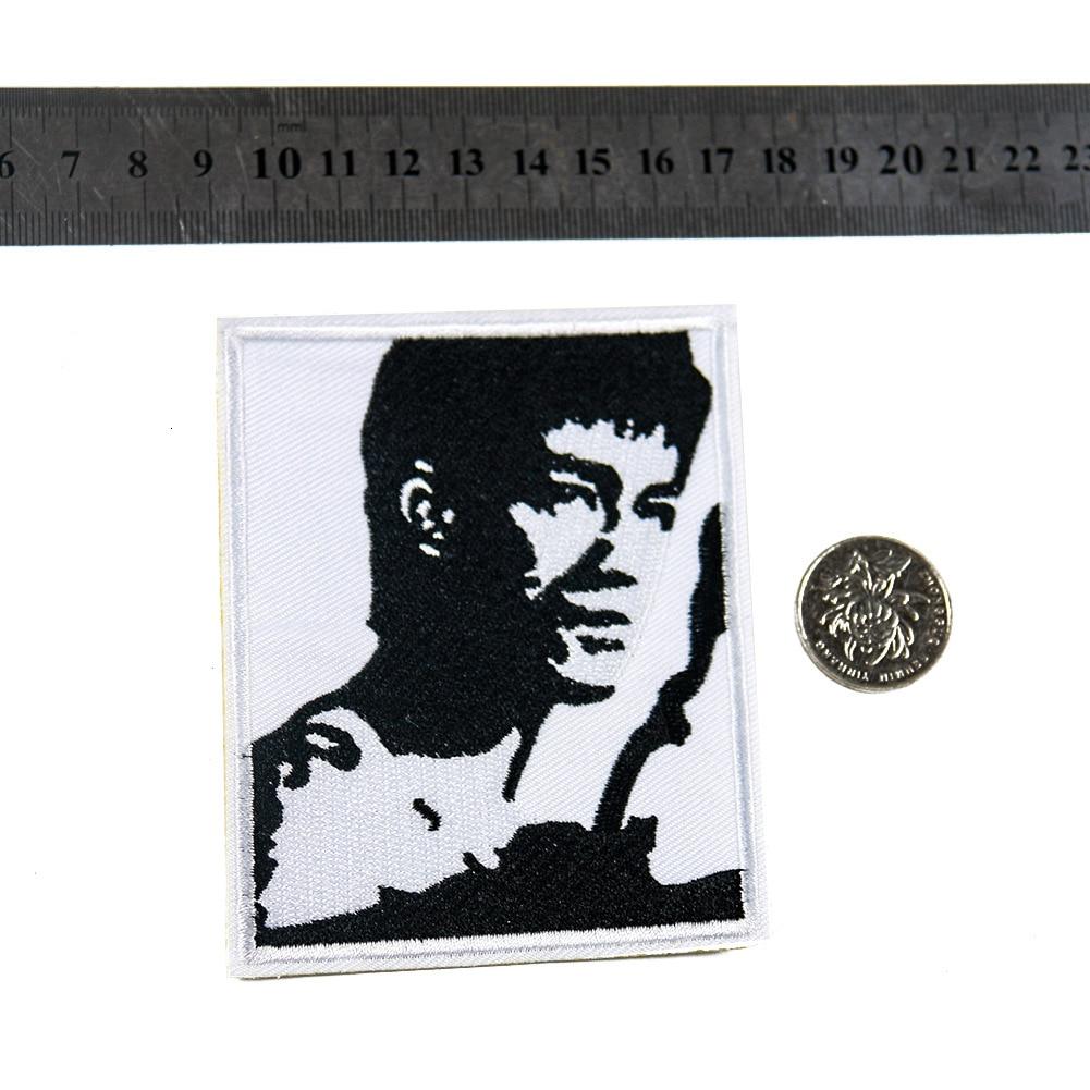 Parche de tela con bordado completamente de The King of kungfu World stars, de la marca Lee, venta al por mayor, para adhesivos para ropa, envío gratuito