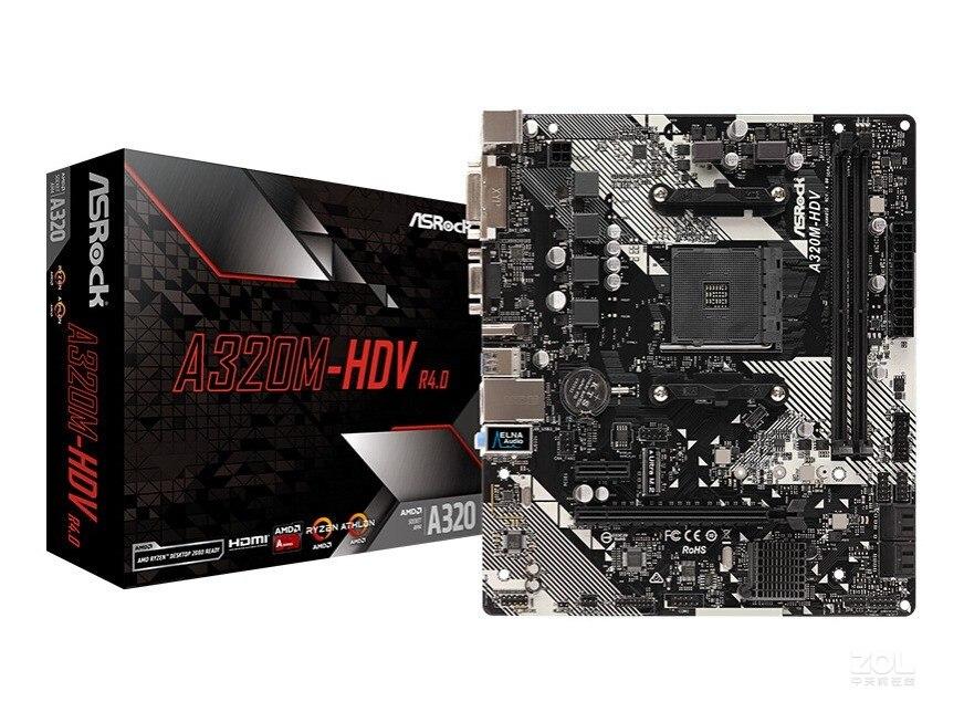 جديد سطح المكتب اللوحة الرئيسية ASRock A320M-HDV R4.0 لعبة AMD Ruilong AM4 كمبيوتر مكتبي اللوحة الرئيسية