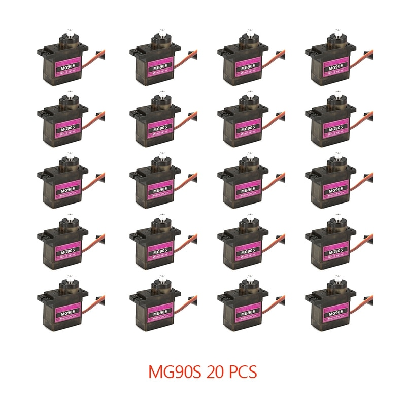 4/5/10/20PCS MG90S Metal Gear RC Micro Servo 13.4g Motor For ZOHD Volantex Airplane For RC Helicopter Car Boat Model Toy Control