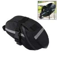 rainproof bicycle bag 600d oxford cloth bike saddle bag with reflective strip large capatity mtb bike rear end bag accessories