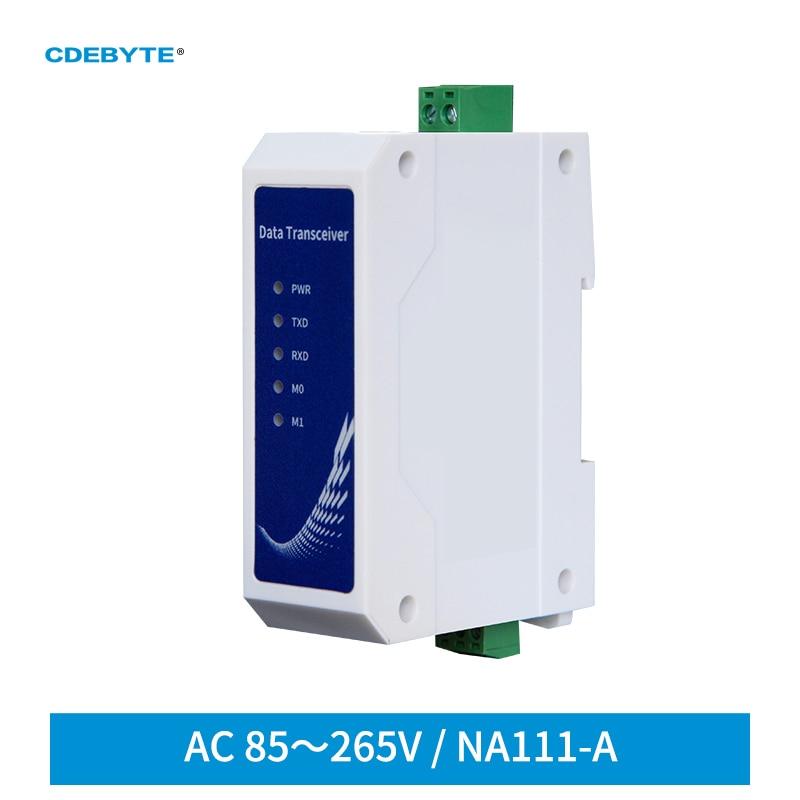 RS485 рельсовый последовательный порт к RJ45 Ethernet Serial Sever NA111-A промышленный стандарт AC85 ~ 265 В трансивер для передачи данных