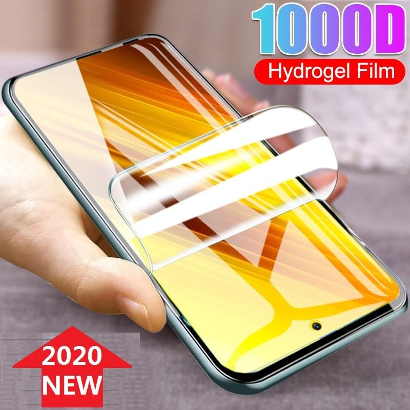 Protective Hydrogel Film for Poco X3 NFC X2 M2 F2 Pro Xiaomi Mi 10T 10 Ultra Lite 9T Pro (Not Glass) Screen Protector Film Foil
