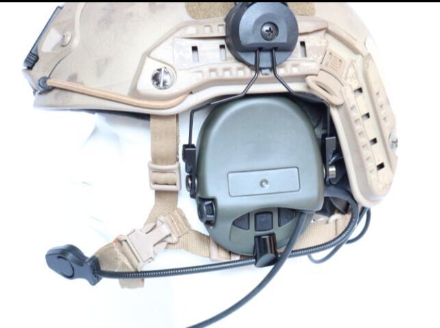 Tactical SORDIN Helmet Fast Track Bracket Silicone Earmuffs Noise Reduction Headphones-FG enlarge