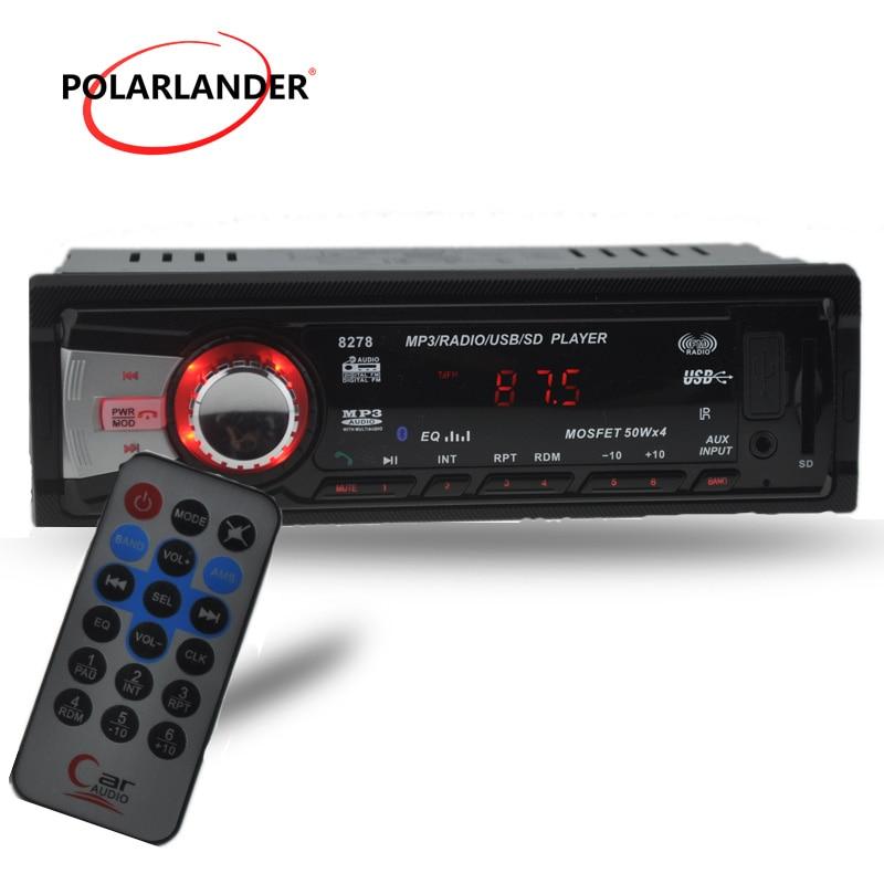 Yeni 12V Bluetooth araç radyo Stereo FM radyo MP3 ses çalar 5V şarj USB/SD/AUX çinde araç elektroniği bluetooth in-Dash 1 DIN