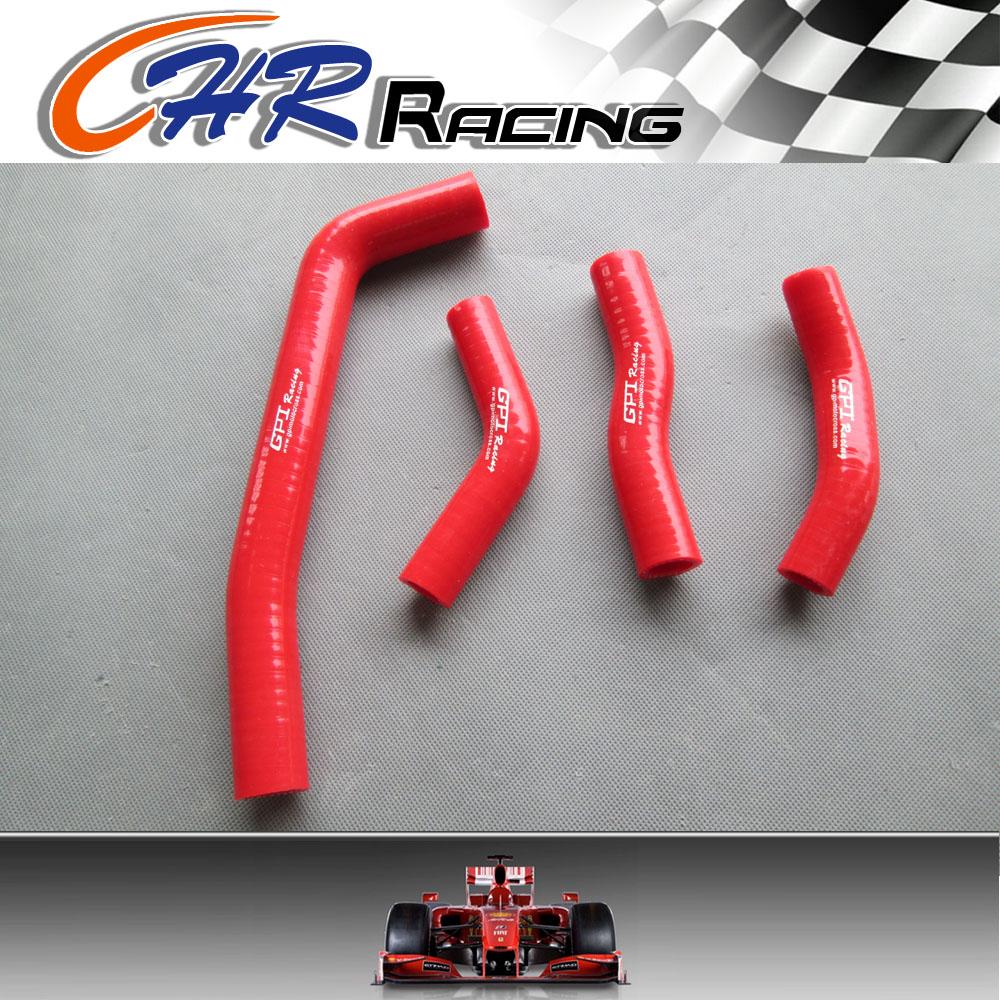 Guia de radiador de silicona para honda crf250 2010 2011 2012 roja
