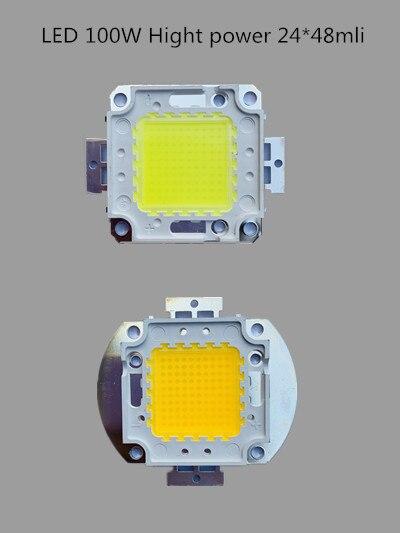 20pcs/LOT 100W LED CHIPpure white/warm white 100W 24*48 led chip high power led bead 1750MA 10000lm 32-34V  for led street light