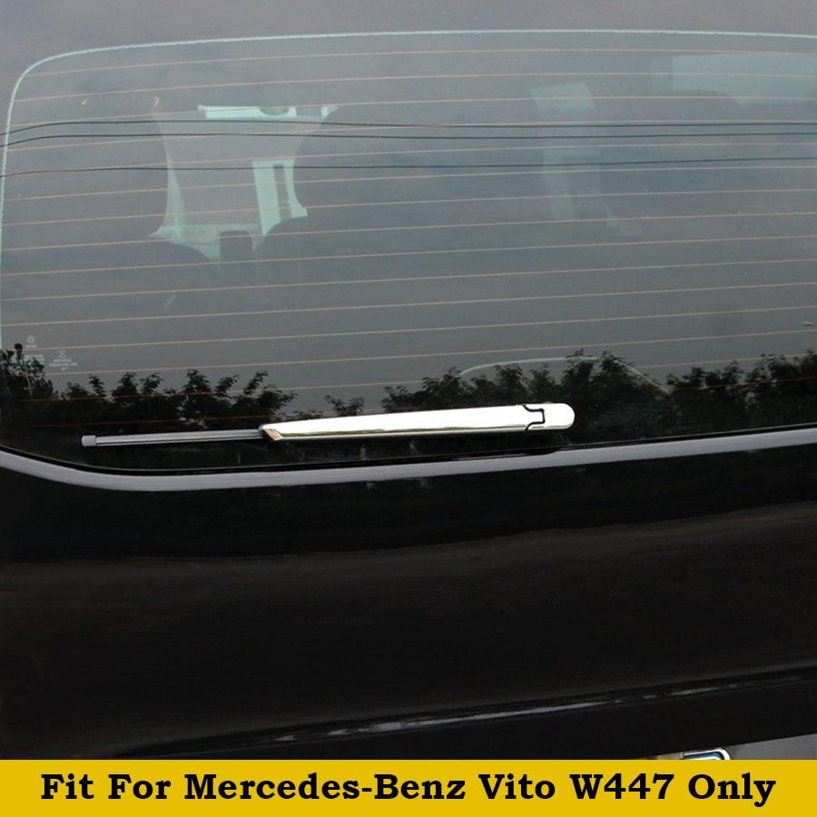 2 uds. Exterior de estilo plateado brillante para mercedes-benz Vita W447 2014-2018 ABS ventana trasera limpiaparabrisas