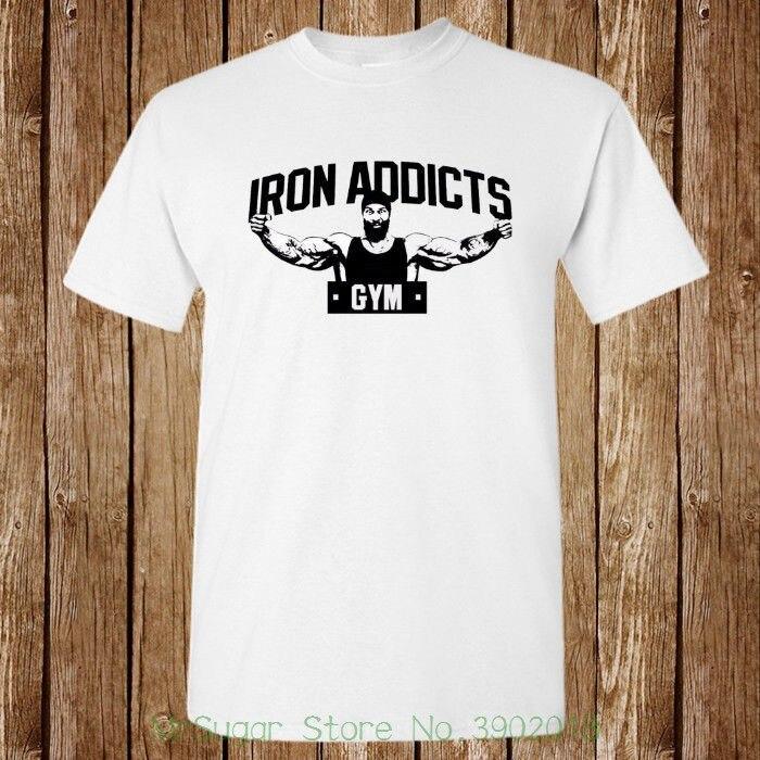De hierro de los adictos gimnasio Ct Fletcher Mike Rashid nueva camiseta Top Unisex de calidad 2018 nuevo de la marca de los hombres