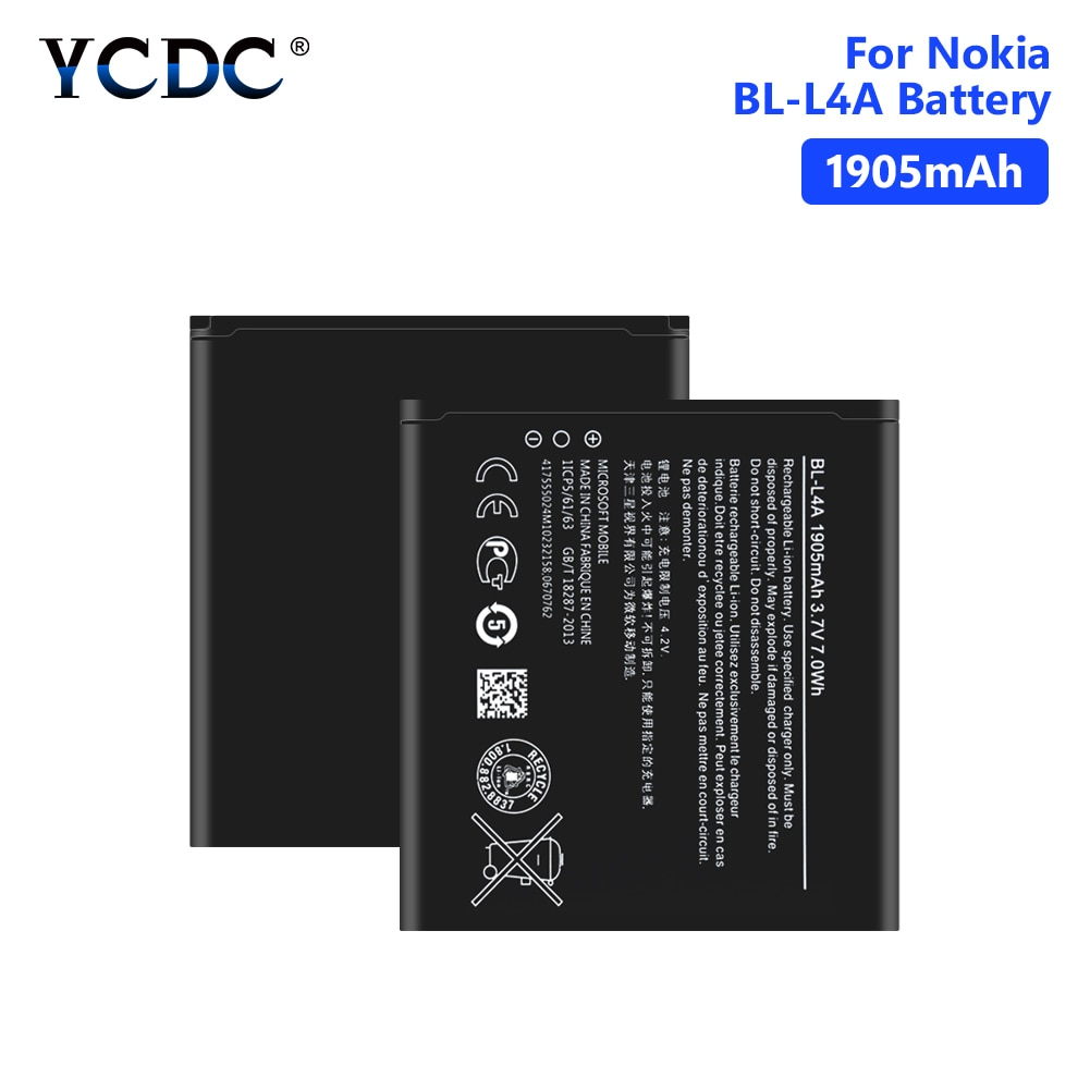 Batería de BL-L4A para Microsoft Nokia, pila de repuesto de alta calidad...