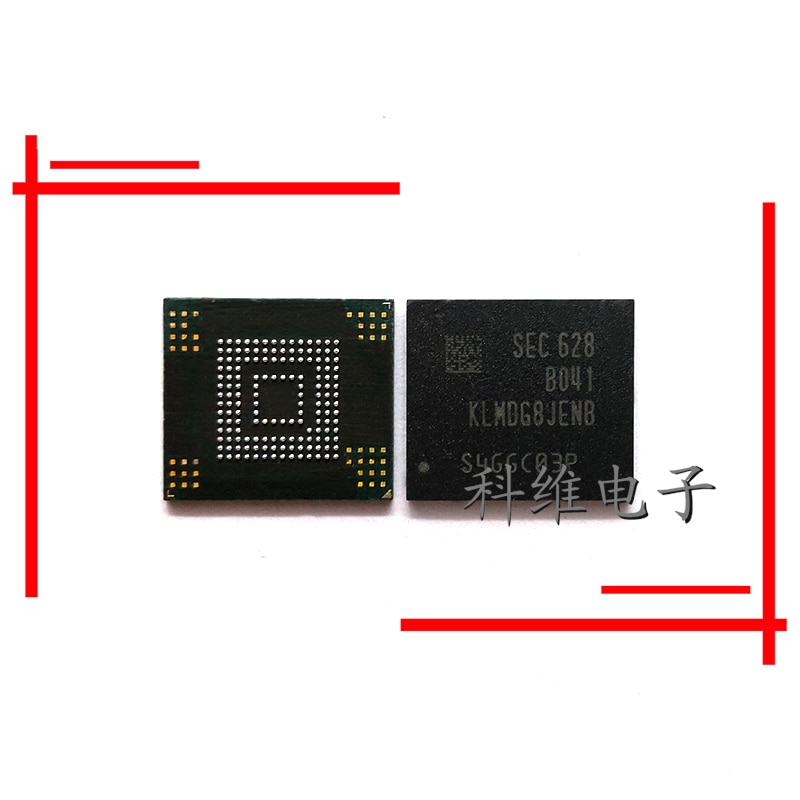 1 unids/lote KLMDG8JENB-B041 128G 153 bolas Disco Duro chip de memoria teléfono móvil original emmc