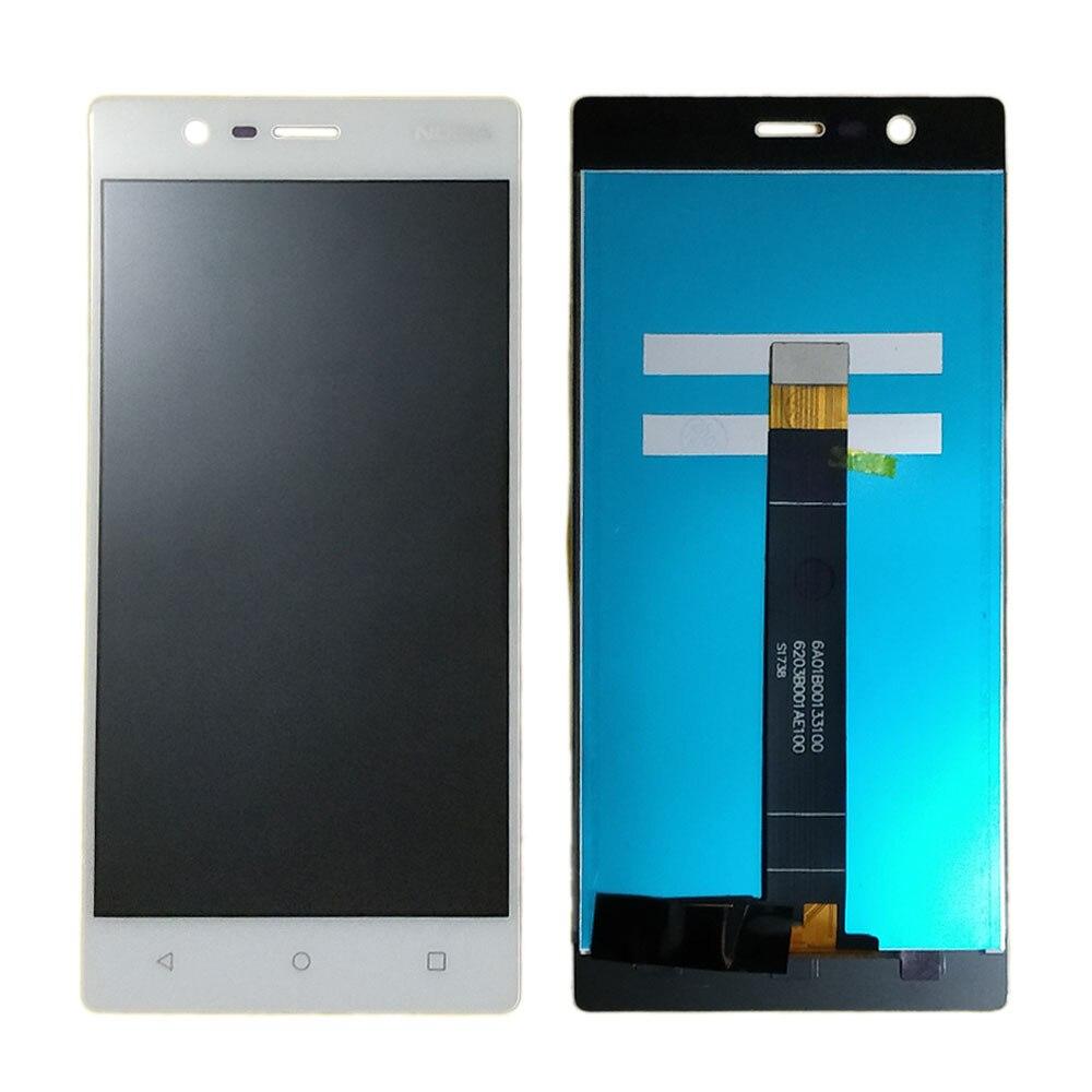 Pantalla N3 para Nokia 3 pantalla LCD y pantalla táctil piezas de repuesto digitalizador Asamblea LCD de 5,0 pulgadas para pantalla Nokia N3 TA-1020
