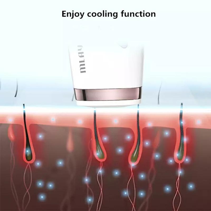 MLAY Laser T4 Hair Removal Ice Cool IPL Epilator Permanent Depilador a Laser Bikini Trimmer Electric 500000 Flashes enlarge
