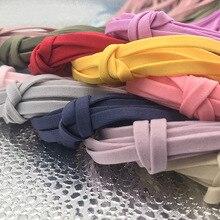 5 mètres couture élastique pour vêtements coloré haute élastique bande taille bande extensible corde cheveux élastique ruban dentelle garniture
