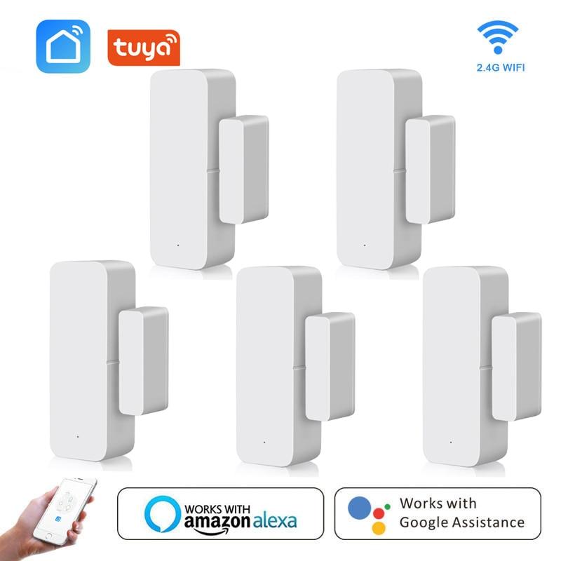 Умные детекторы открытия/закрытия дверей, приложение Smart Life, Wi-Fi датчик окон, работает с Alexa,Google Home смарт детекторы открытия закрытия дверей с приложением smart life и поддержкой wi fi