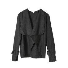 Women's Autumn Thin Cardigan Jacket New Soild Color Long Sleeves Loose Coat Female Fashionable Asymmetric Outwear Fall Hot Sale