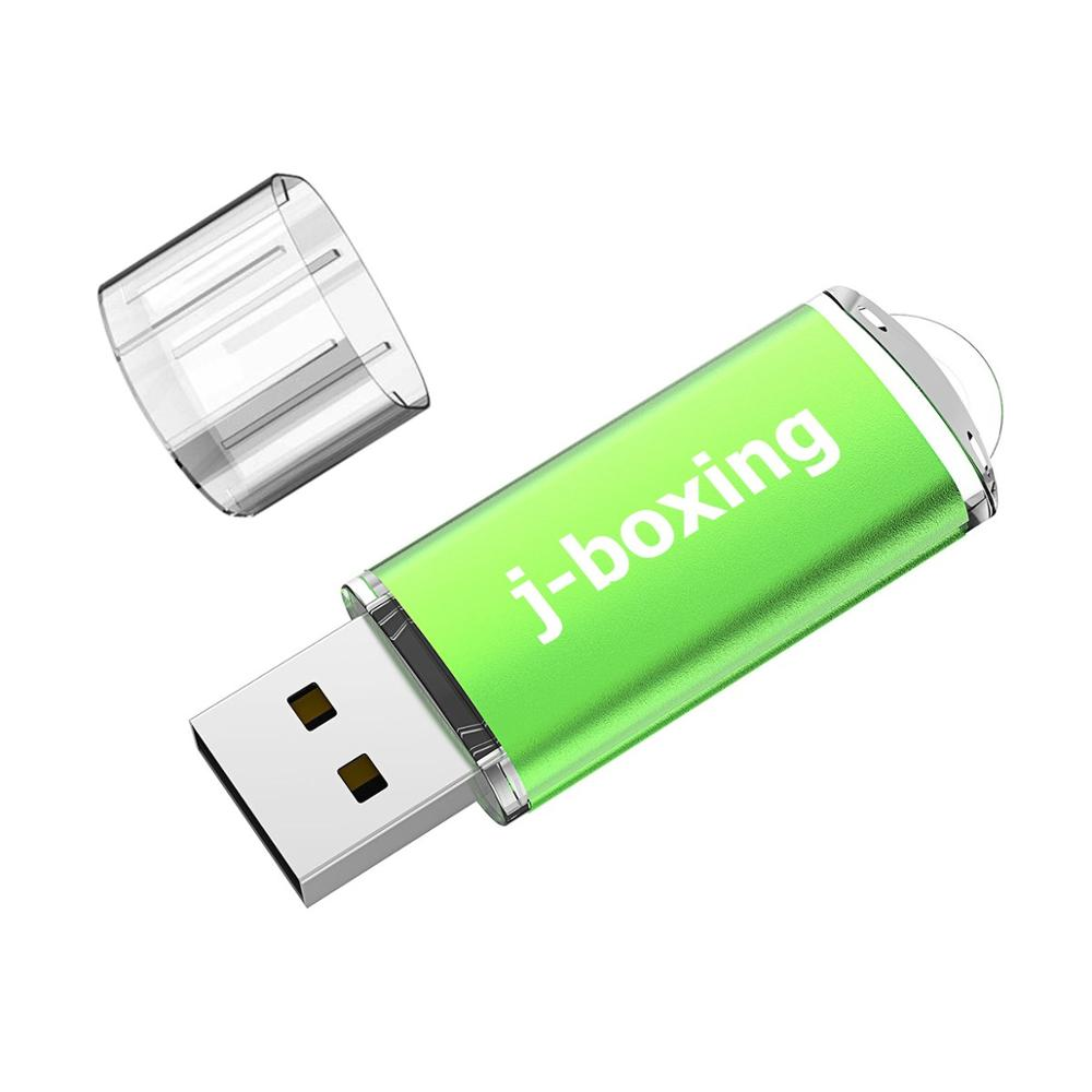 J-boxing 128GB USB Flash Portable Rectangle 128 gb Flash Stick Large Capacity Thumb Pen Storage with Cap for Computer Mac Tablet