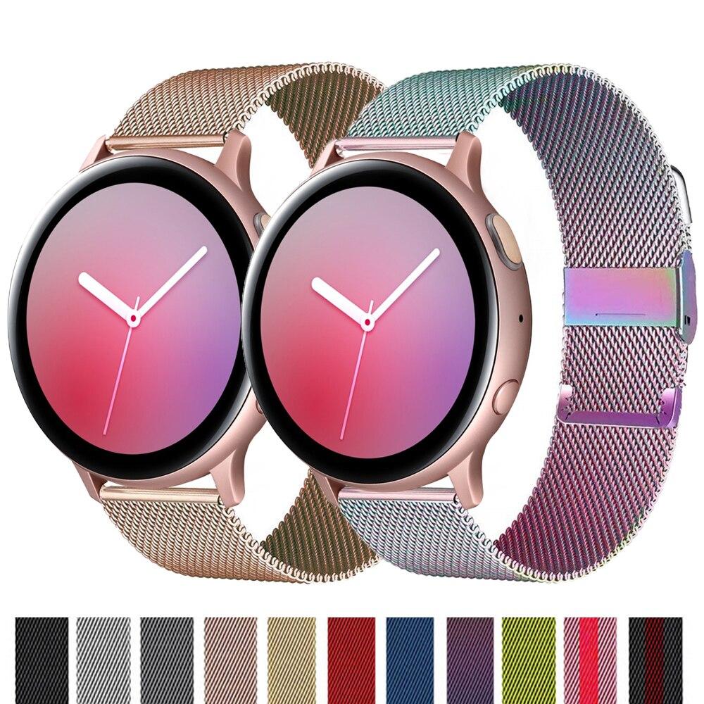 Huawei relógio gt 2/2e/pro pulseira para samsung galaxy watch 3 45/41mm pulseira milanese loop banda engrenagem s3 fronteira/ativo 2 46/42mm