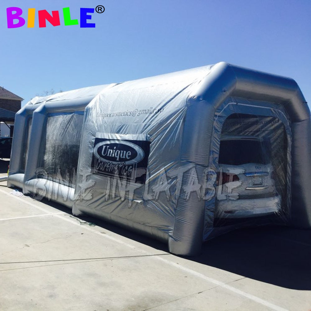 Gran Sala de pintura de cabina de aerosol inflable de material oxford para coche con filtro, tienda de servicio de cabina de camión de motocicleta a la venta