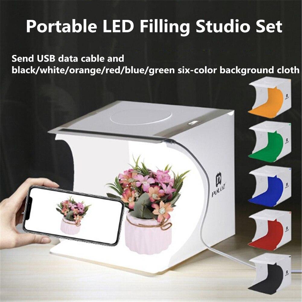 ¡Novedad de 2020! Caja de luz LED plegable, caja de luz de brillo portátil para fotografía en estudio fotográfico, caja de luz para mesa de cámara DSLR