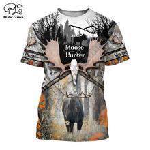 Men/Women Animal Deer Bow Moose Hunting Hunter tshirt Camo Harajuku New Fashion 3D Print Unisex Shorts Sleeve T-shirts tops tees