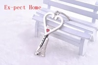 free shipping by dhl 200pcslot new zinc alloy paris tower heart bottle opener keychains novelty keyrings for promotion