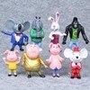 8 pz/set Cartoon Movie Cantare Action Figure Giocattoli Buster Moon Johnny Bambole Action Figure Giocattoli 7-10 CENTIMETRI Di Natale regali di compleanno