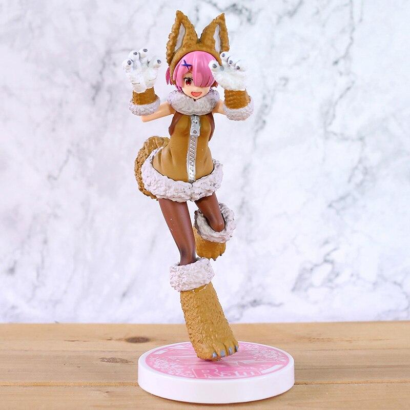 Re zero kara hajimeru isekai seikatsu conto de fadas série lobo ram pvc figura collectible modelo de brinquedo