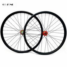 Ruedas vtt 27.5 carbono asymétrique 38.5x28mm roue tubeless hope 4 boost 110x15 148x1 2/axe traversant vtt disque roues pilier 1420
