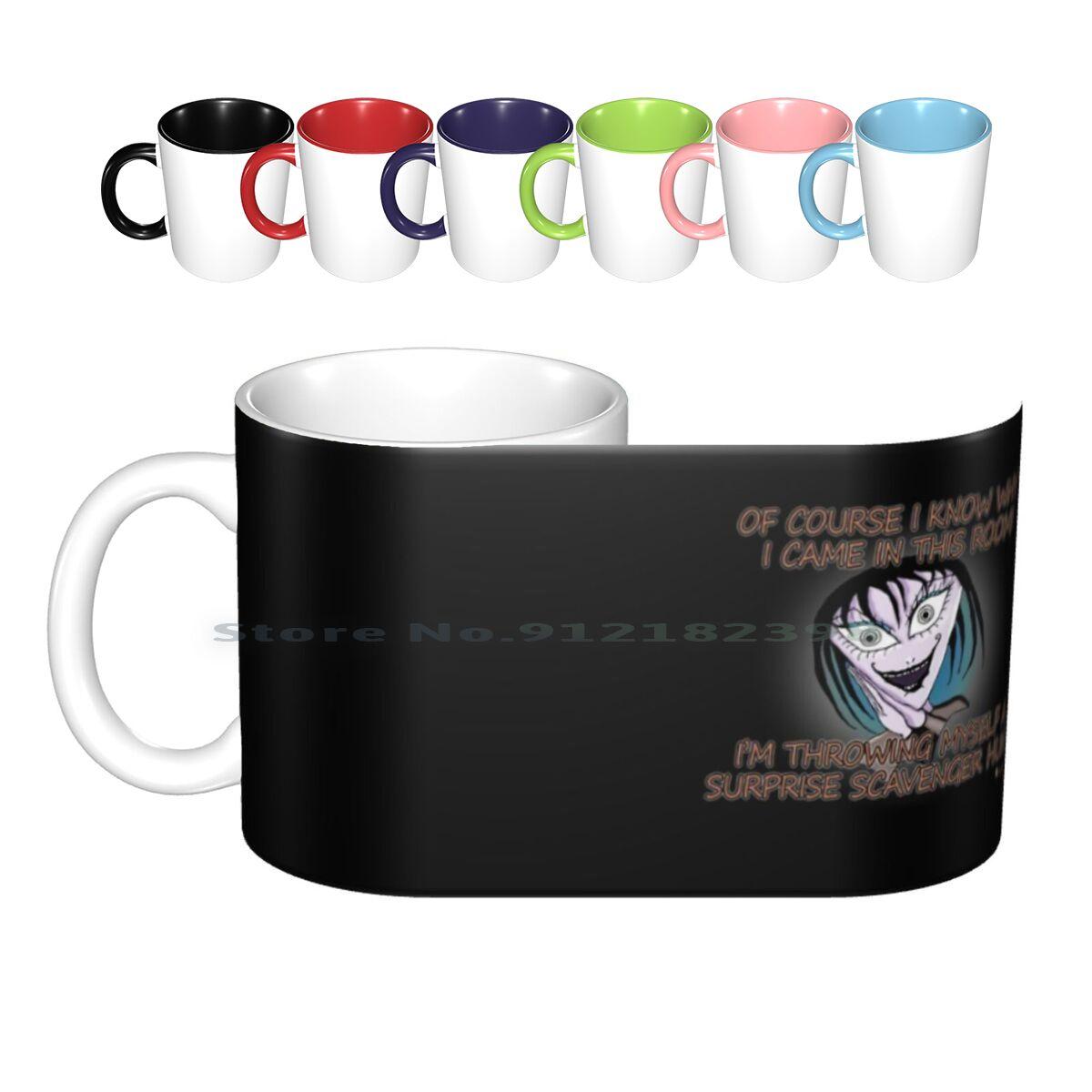 Menopause Symptoms Humor-Brain Fog | Destress Midlife Birthday Middle Age Dark Humor Idea Ceramic Mugs Coffee Cups Milk Tea Mug