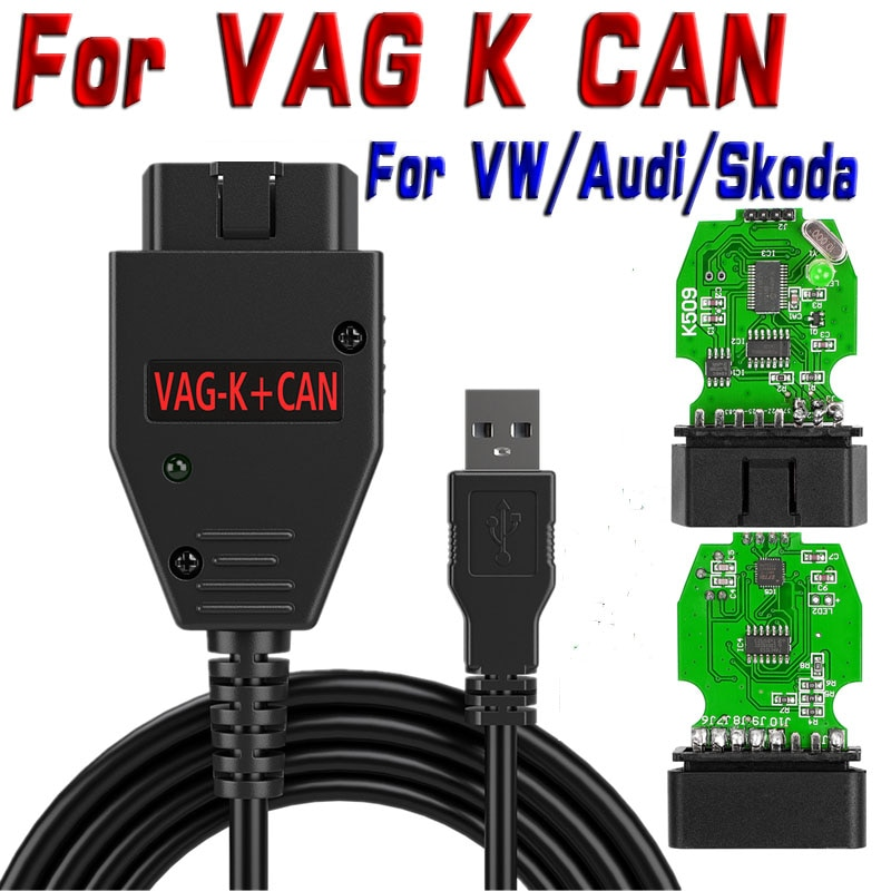 Mais novo para vag k pode comandante 1.4 ftdi ft232rl obd2 scanner ferramenta de diagnóstico para vw/audi/skoda para vag k-linha comandante 4.7