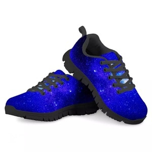 HYCOOL Starry Sky Galaxy Space Printing Children Sport Shoes for Winter Spring Boys Girls Anti-Slippery Sneakers Breathable