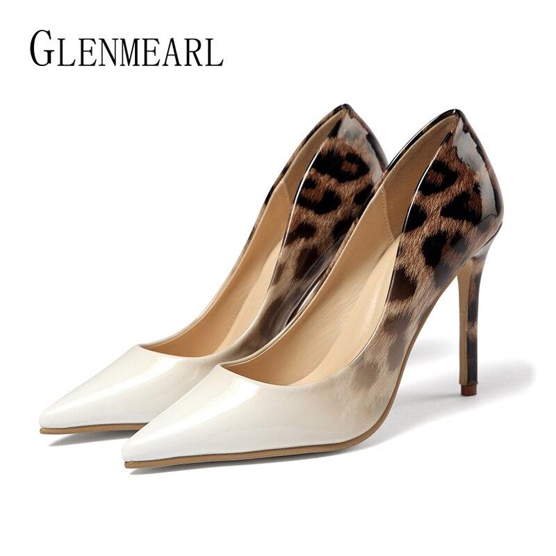 Zapatos DE tacón para mujer, zapatos DE tacón DE leopardo para mujer, zapatos DE boda DE punta estrecha a la moda, zapatos DE tacón fino para mujer, zapatos DE fiesta DE 2019