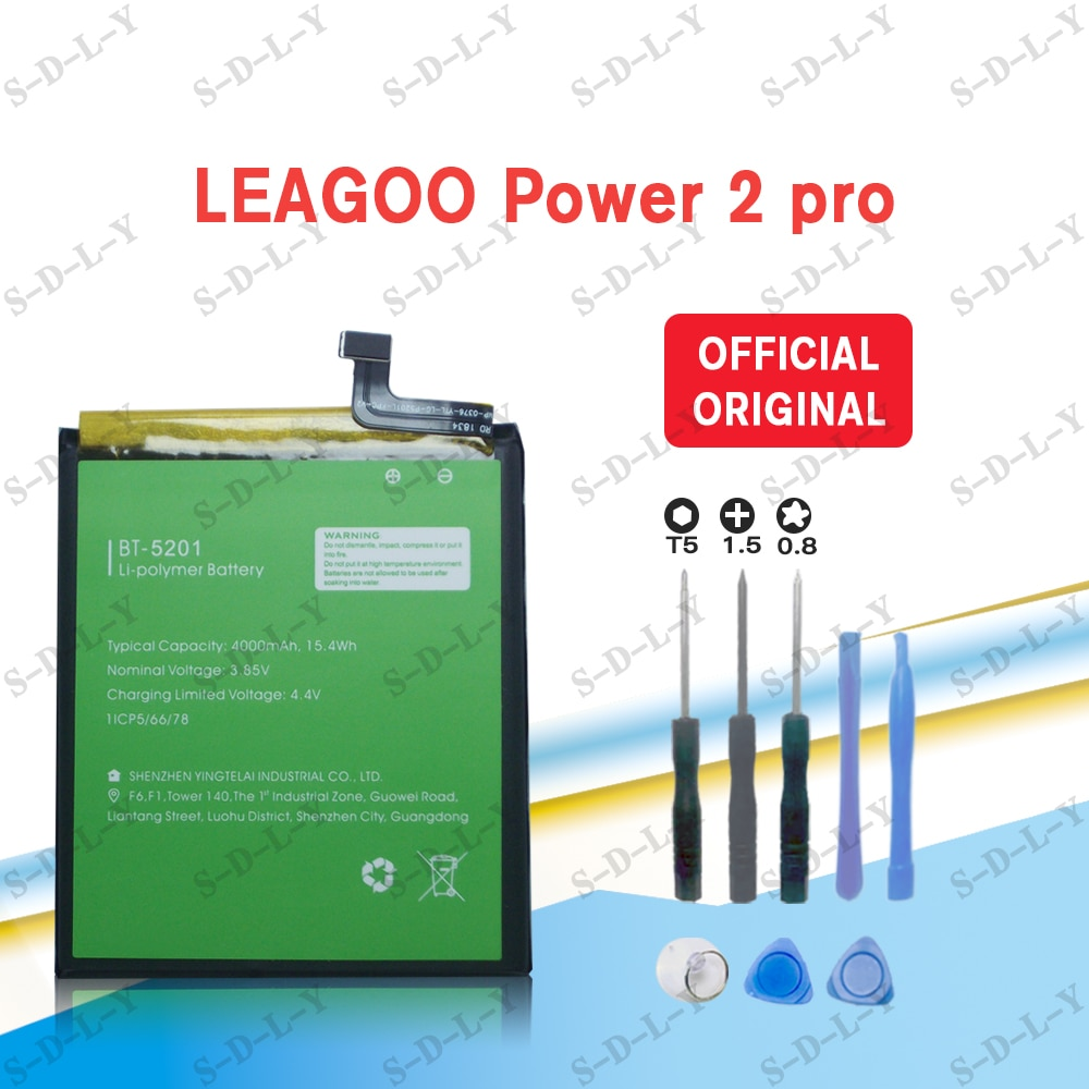 new genuine battery 4000mah for condor bt621 battery NEW Original 4000mAh bt-5201 battery for LEAGOO Power 2 pro High Quality Battery+Tracking + Tools