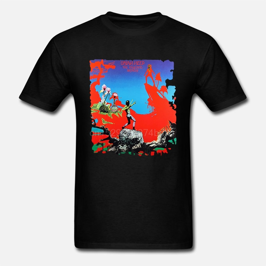 Camiseta de algodón de moda para hombre Urías Heep cumpleaños de la banda musical del mago (2)