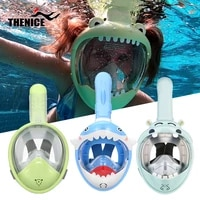 cartoon swimming mask boy girl full face hd snorkeling mask for children diving anti fog and anti leak snorkeling diving mask
