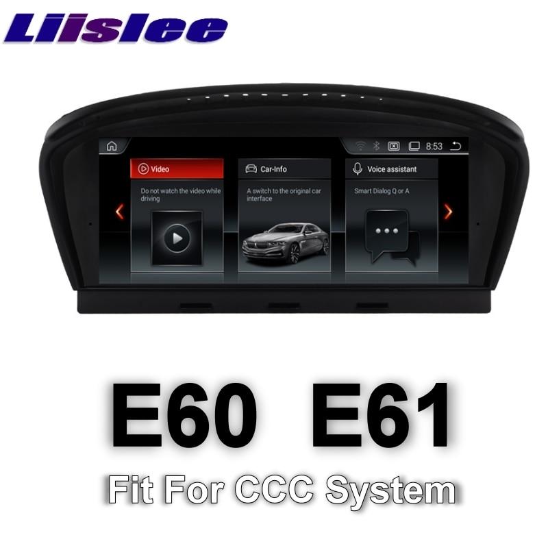 Para BMW 5 Series E60 E61 CCC System 2003 ~ 2007 LiisLee, Audio Multimedia GPS, Radio Estéreo Hi-Fi para CCC EVO-ID7 navegación NAVI