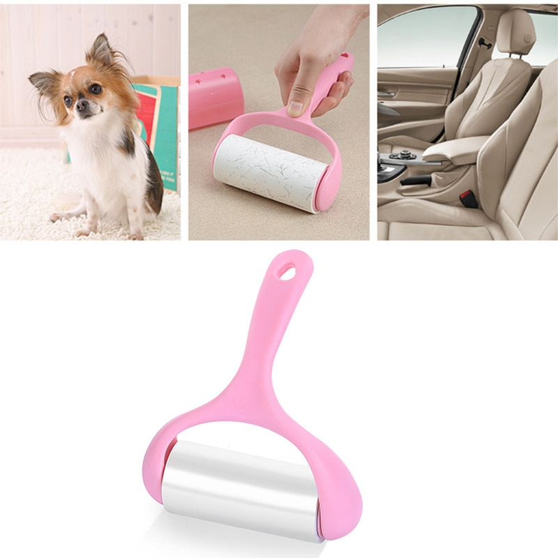 9 Rolls + 1 Handle Sticky Roller Sticky Dust Paper Tearable Adhesive Brush Clothes Lint Brush Hair Remover Kit with Handle enlarge