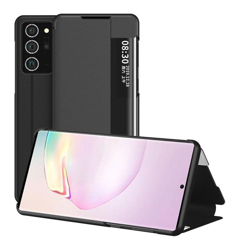 Funda de cuero para Samsung Galaxy Nota 20 Ultra soporte abatible para...