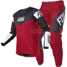 Noir rouge 2021 MX 180 Revn Dirt Gear ensemble moto Jersey pantalon Scooter moteur Kits Motocross course costume