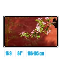 84inch 169 simple projector screen matte white fabric fiber glass wall mounted screen for home theater bar