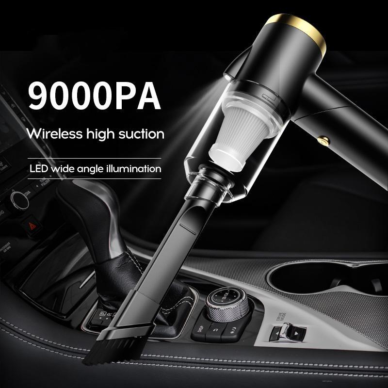 Беспроводной автомобильный пылесос 9000 па, беспроводной ручной автомобильный пылесос для дома и автомобиля, мини-пылесос двойного использо...