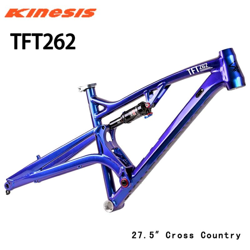 Kinesis endurance, decoloración trasera suave, 27,5 er TFT262, amortiguador, eje del barril MTB, marco de aluminio BSA AM rockshoxmonarc RT