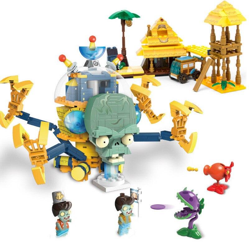 20 estilos de plantas vs Zombies figura de acción para niños, Material ABS juguetes para niños, bloque de madera, regalos para niños