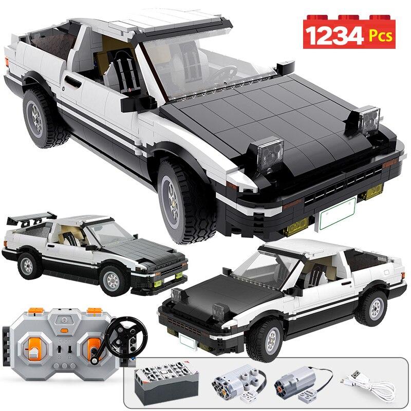 1234 Uds Control remoto de la ciudad Supercar la técnica de bloques de construcción RC/no RC Drift coche de carreras MOC juguetes de bloques de modelismo para niños