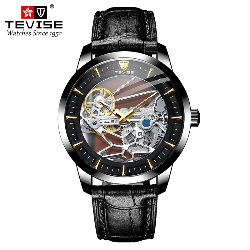 Drop Shipping Tevise Top Brand Men Mechanical Watch Automatic Fashion Luxury Stainless Steel Male Cl