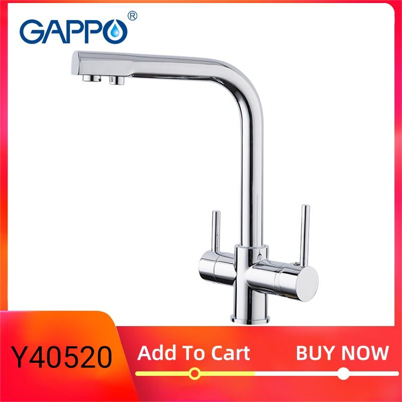Gappo Chroom Kleur Messing Filter Watering Keukenkraan Draaibare Koud En Warm Water Badrandcombinaties Kranen